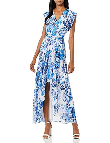 Eliza J Women's Surplus High-Low Dress (Regular & Petite) Special Occasion, Blue, 8