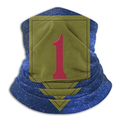 wanglinbin11 Army 1st Infantry Division Maske Huthalsschal, Wärmedämmung, Vielseitigkeit und Stil. Mikrofaserstruktur