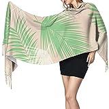 Scialle avvolgenti sciarpe grandi Palm Tree Long Blanket Scarf For Women, Fashion Tassel Shawls Wraps Scarf, Soft Cashmere Feeling Warm Winter