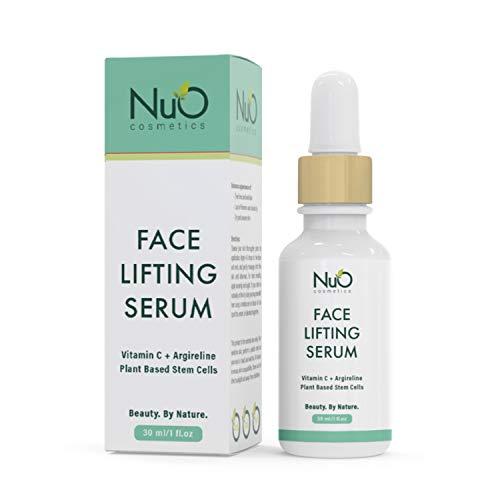 NuOrganic Face Lifting Serum | Anti-Aging Serum | Organic Formula with MATRIXYL 3000, Vitamin C, Hyaluronic Acid, Plant Stem Cells, Argireline - Lifts, Firms & Tightens Skin ● 30ML