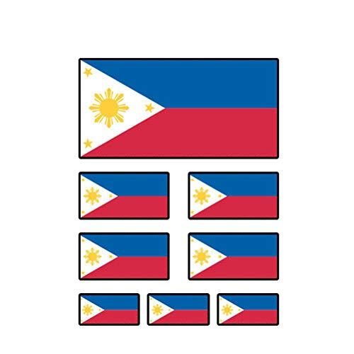 MAGNET 8 Pcs Assorted Filipino Flag Philippines Pinoy Star Sun Magnetic Vinyl Car Fridge Sticks to any Metal Surface 5'