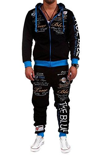 MT Styles Trainingsanzug True Grade Sportanzug Hose R-508 [Schwarz/Blau, S]