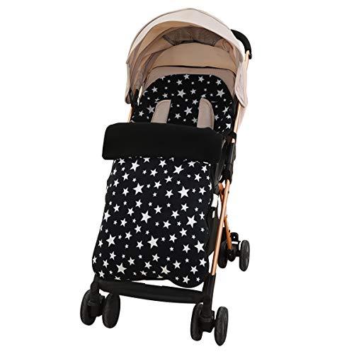 SONARIN Universal Premium Fußsack für Kinderwagen,weicher Deluxe-Thermo-Fleece,Cosy Toes,für Jogger, Buggy(Schwarz)