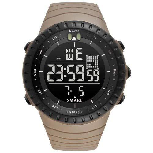 Shuxinmd Militar Sports Reloj Analógico Digital Impermeable con Temporizador de Alarma Grande...