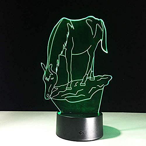 Nachtlampje Acryl Klein Nachtlampje Paard 3D Led-Lamp 7 Kleurverandering Usb-Aanraakschakelaar Binnen Sfeerlamp Friends Kids