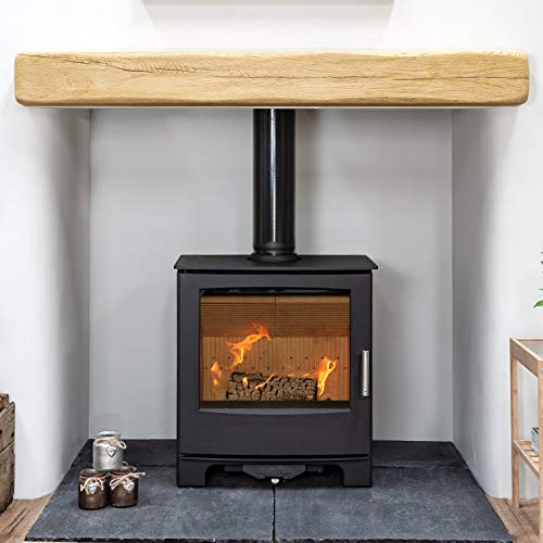 Mendip Woodland Multi Fuel Stove Glass Window Fire Steel Eco Wood Burning 5kW