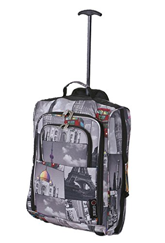 5 Cities Cabin Approved Trolley Bag, Cities, 21-Inch / 55cm