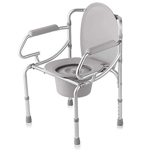 YXZQ Toilettenstuhl, Klappstuhl und Toiletteneinfassung, Klappstuhl für Erwachsene aus Aluminiumlegierung für ältere Senioren, Behinderte, Behinderte, Großeltern