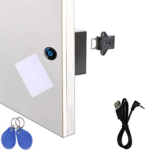 Homello RFID Electronic Cabinet Lock with USB Cable - Hidden DIY for Wooden Drawer, Cabinet, Gun Box