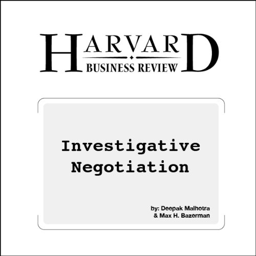 Investigative Negotiation (Harvard Business Review) audiobook cover art