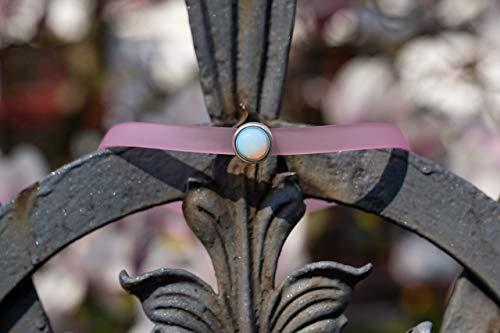 Rosafarbene Halskette als Choker oder Armband mit Mondstein