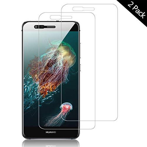 OUJD Protector Pantalla para Huawei P10 Lite ( Paquete de 2 ) - Huawei P10 Lite, Cristal Vidrio Templado Premium