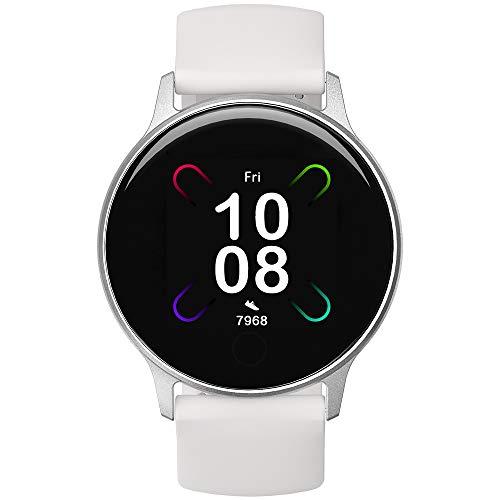 Smartwatch, UMIDIGI Uwatch 3S Fitnessuhr mit Blutsauerstoff-Monitor(SpO2), Pulsuhr, wasserdichte Smart Watch Fitness Tracker mit Stoppuhr, Schrittzähler, Schlafmonitor für Damen und Herren, Weiß