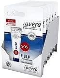 Lavera SOS HELP balsamo per le labbra, aiuto immediato, vegano, principi attivi vegetali biologici, cosmetici naturali, innovativi, confezione da 6 (6 x 1 pezzo)