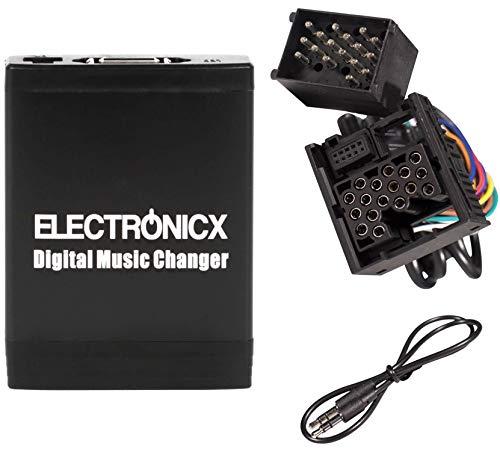 Electronicx ELEC-M06-BM1 Digitaler Auto-Musik-Wechsler USB, MP3, AUX SD CD-wechsler Autoradio Stereosystem Originalradio