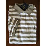 ラルフローレンのボーダーポロシャツ グレー×白 M L 国内直営店購入 1万4040円