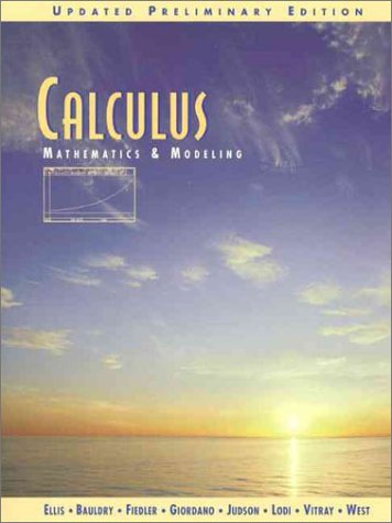 Calculus: Mathematics and Modeling