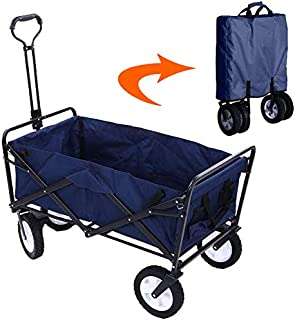 BERRY Foldable Heavy Duty Outdoor Trolley Utility Transport Cart 80kg (Blue)