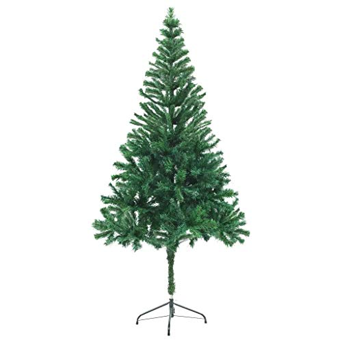 GOTOTOP 180CM / 6Ft Green Christmas Tree Thick Bushy Tinsel PVC Artificial Tree with 564 Flexible Branches Indoor Xmas Decoration
