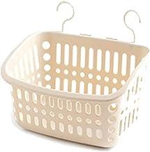SKGOFGODcw Home Storage Bins Hanging Storage Basket, Plastic Strap Hook, Bathroom and Toilet Bath Hanging Basket, Cosmetic...