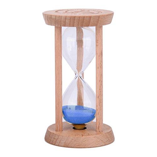 2/3 Minuten Houten Zandglas Zandglas Zand Timer Bureau Planken Ornamenten voor zowel volwassenen als kinderen - Blauw 3 Minutes