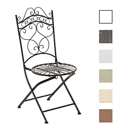 CLP Eisenstuhl Indra im Jugendstil I Antiker handgefertigter Gartenstuhl I erhältlich, Farbe:Bronze
