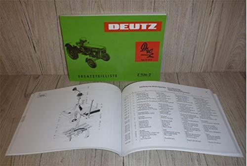 DEUTZ Ersatzteilliste Ersatzteilkatalog Traktor D40L D40.2 Motor F3L812 Z1136-2