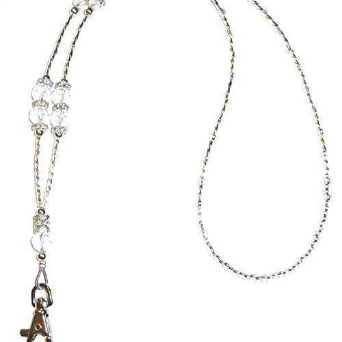 "Crystal Style Fashion Women's Beaded Lanyard 34"", Breakaway and Non Breakaway Available, for Keys, Badge Holder (Crystal - Non Breakaway (Stronger)) (Totally Fab)"