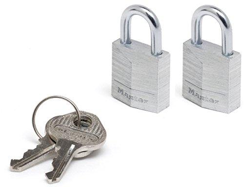 Master Lock Cadenas 20 mm pour bagage, valise, sac à dos avec serrure à clé Lot de 2