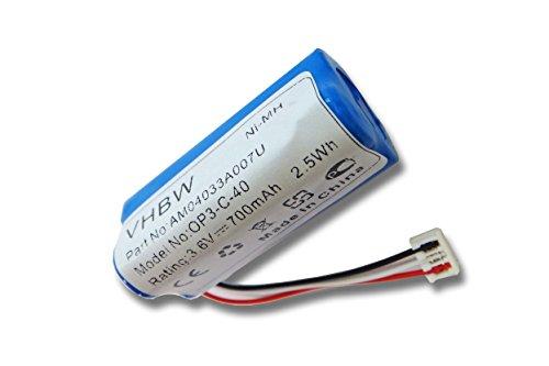 vhbw NiMH Akku 700mAh (3.6V) kompatibel mit Haarschneider, Rasierer Wella XPert HS70 Haarschneider, Kadus Clipper HS70 Ersatz für 1520902, HR-AAAU.