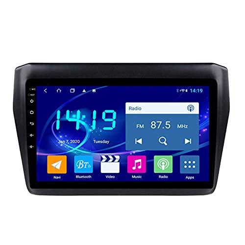 Gndy Car Stereo Android 9.1 Car Stereo GPS Navigation para Suzuki Swift 2017-2019 Pantalla Táctil De 9 Pulgadas Soporte WiFi 4.0 Bluetooth Control del Volante