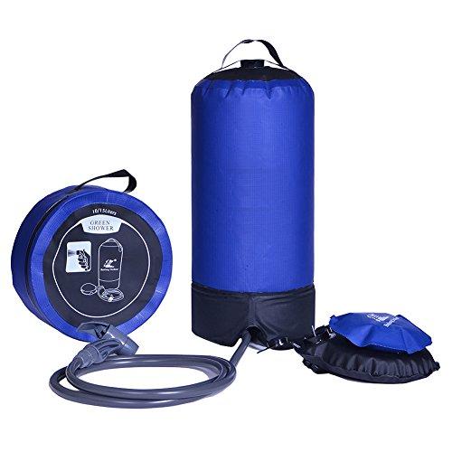 iTovin 15 Liter presión portátil ducha, ducha de camping 15 l Azul, valor: azul