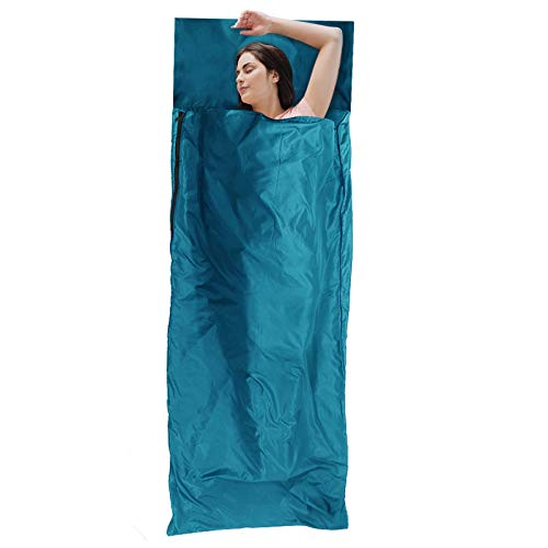 Forceatt Sleeping Bag Liner-Comfortable & Breathable Fabric,Lightweight Travel Sheet,370g in Weight for Camping, Traveling, Hotels & Backpacking,Camping Sheets for Year-Round use