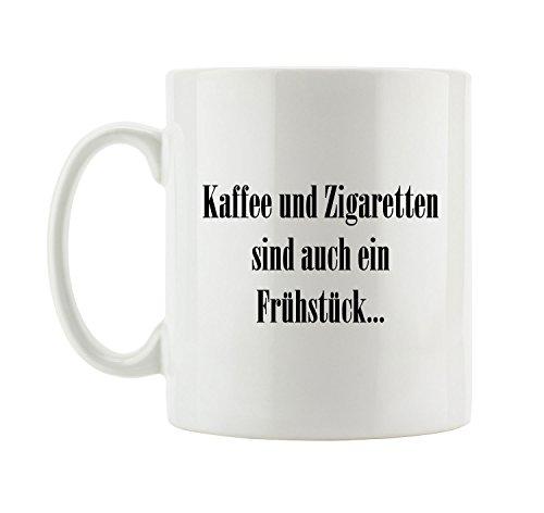 Pixxprint J.Roxx Kaffee und Zigaretten sind auch EIN Frühstück… Tasse