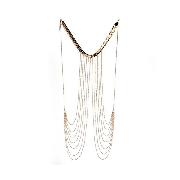 JOJO & LIN 2020 New Gold Body Chain Harness Adjustable with Fine Chain Multirow Necklace Gold Chain Necklace Chain Jewelry Chains for Women