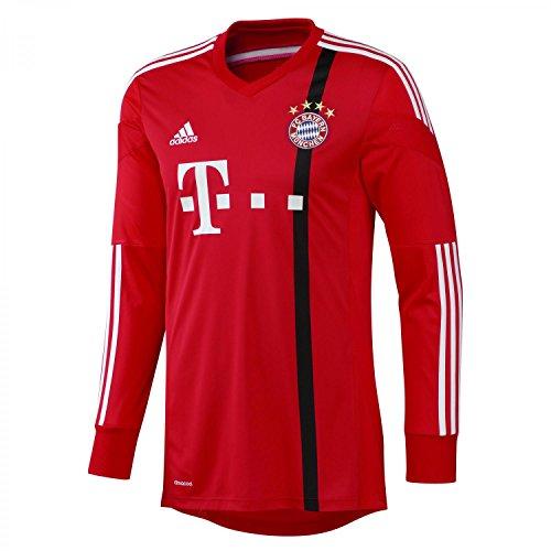 adidas Kinder Torwarttrikot FC Bayern Goalkeeper Ausweich Youth, Poppy/Black/White, 164