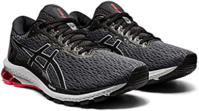 ASICS Men's GT-1000 9 Running Shoes, 11.5, Carrier Grey/Black/RED