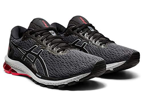 ASICS Men's GT-1000 9 Running Shoes, 9.5, Carrier Grey/Black/RED