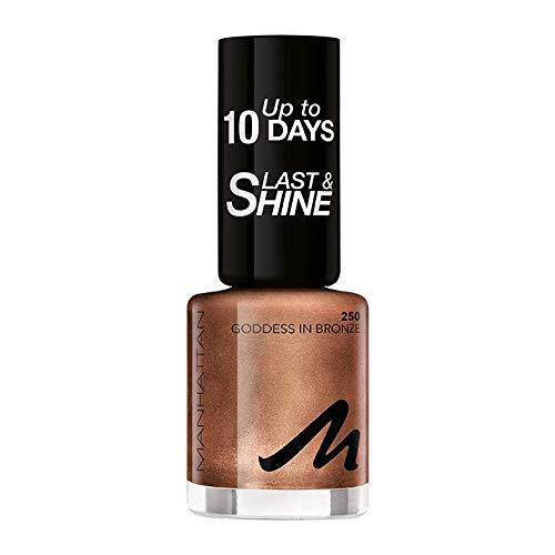Manhattan Last und Shine Nagellack, Nr.250 Goddes In Bronze, 1er Pack (1 X 8 ml)