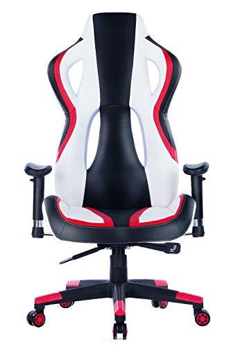 Wolmics Gaming Stuhl unter 150 Euro Rennstil PU-Leder Bild 6*