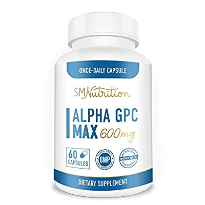 Alpha GPC Choline Supplement (60 Capsules 600mg) - Nootropic for Brain Support, Focus, Memory, Motivation, Mood & Energy - 3rd Party Tested for Soy Free, Dairy Free, Gluten Free