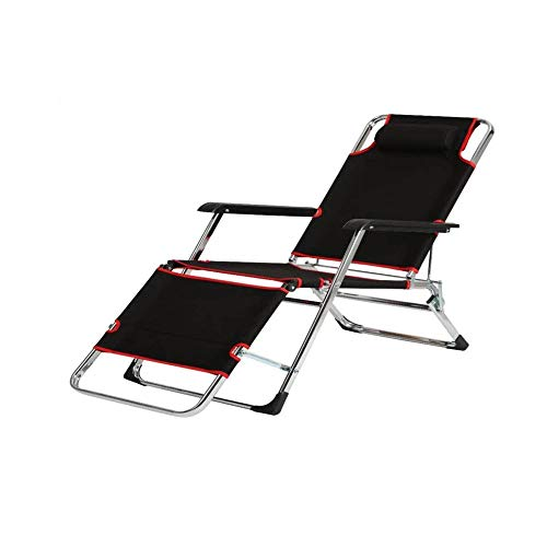 Outdoor Beach Sun Lounger for Garden Simple Folding Reclining Lounger Chair With Locking Patio Lounge Recliners Chaise Adjustable For Beach Pool Side Outdoor Yard Ergonomy Armset Non-slip Footrest Red