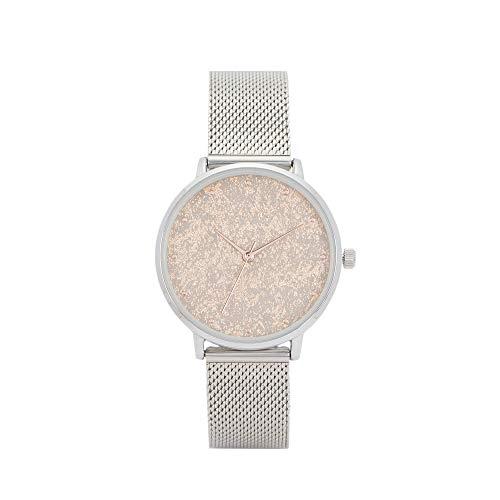 Parfois - Reloj Casual Silver Tray - Mujeres - Tallas Única - Platead