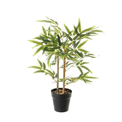 Planta Artificial Hojas Verde bambú de plástico de 63x14x14 cm - LOLAhome