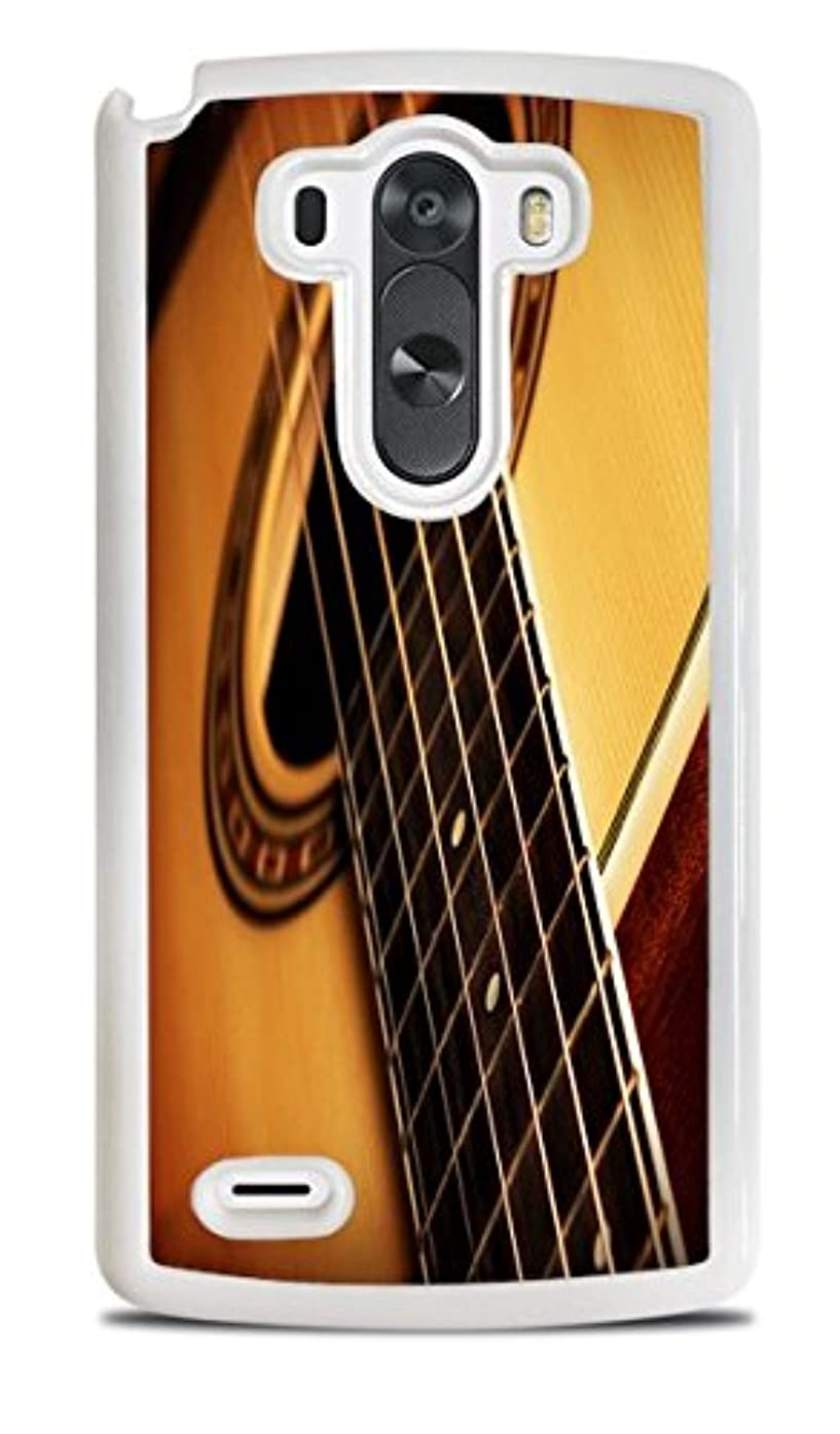 Acoustic Guitar White Hardshell Case for LG G3
