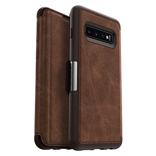 OtterBox STRADA SERIES Case for Galaxy S10 - Retail Packaging - ESPRESSO (DARK BROWN/WORN BROWN LEATHER)