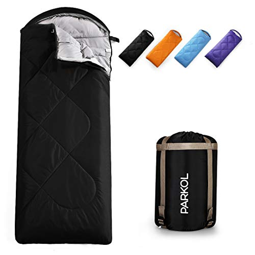 PARKOL Sleeping Bag for Adults & Kids - 3 Seasons Warm Cold Weather (Summer, Spring, Fall) Waterproof, Lightweight, Portable, Camping Gear Equipment for Outdoor,Hiking, Backpacking