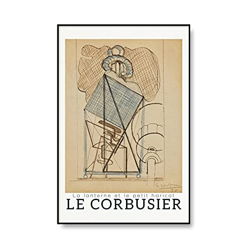 Le Corbusier Exhibition Poster French Art Retro Abstract Museum Prints Medieval Modern Mural Frameless Canvas Painting A4 30x45cm