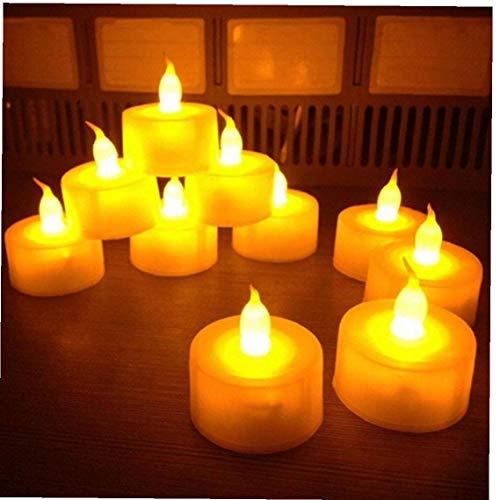Yililay LED Light, 12pcs Candle Orange Flameless Candle Wedding Festival Home Decoration Light Tea Light