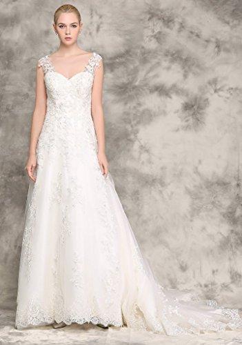 Brautkleid mit Rückenansicht und Schleppe Ivory - 3